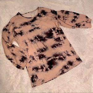 Pink & Black Tie-dye Sweater